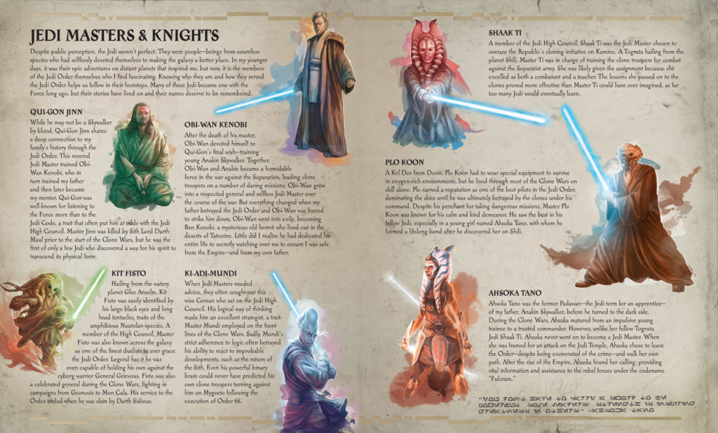 Jedi Masters & Knights from The Secrets of the Jedi