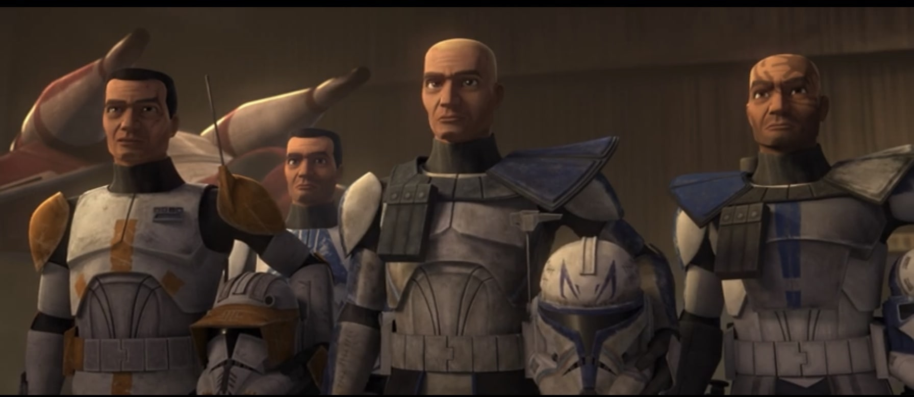 Clone troops featuring Commanders Cody, Rex, and more