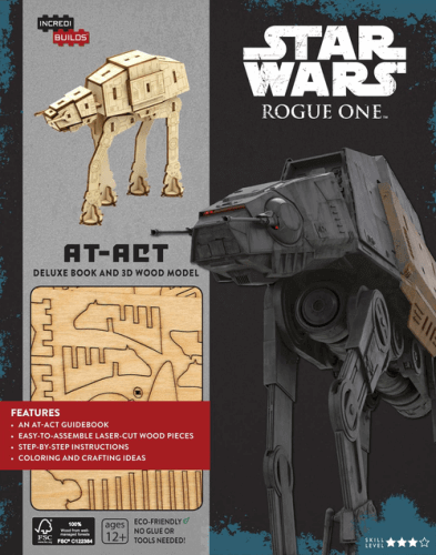 Rogue One: AT-ACT Deluxe Book and 3D Wood Model