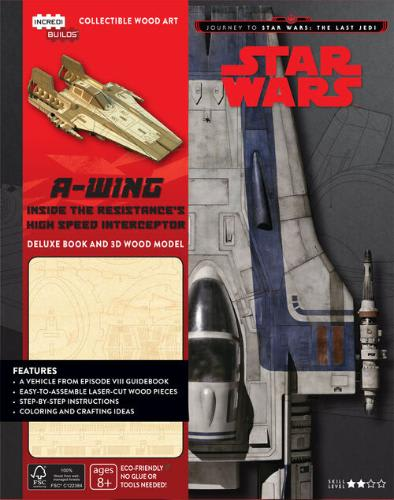 A-Wing Deluxe Book and 3D Wood Model