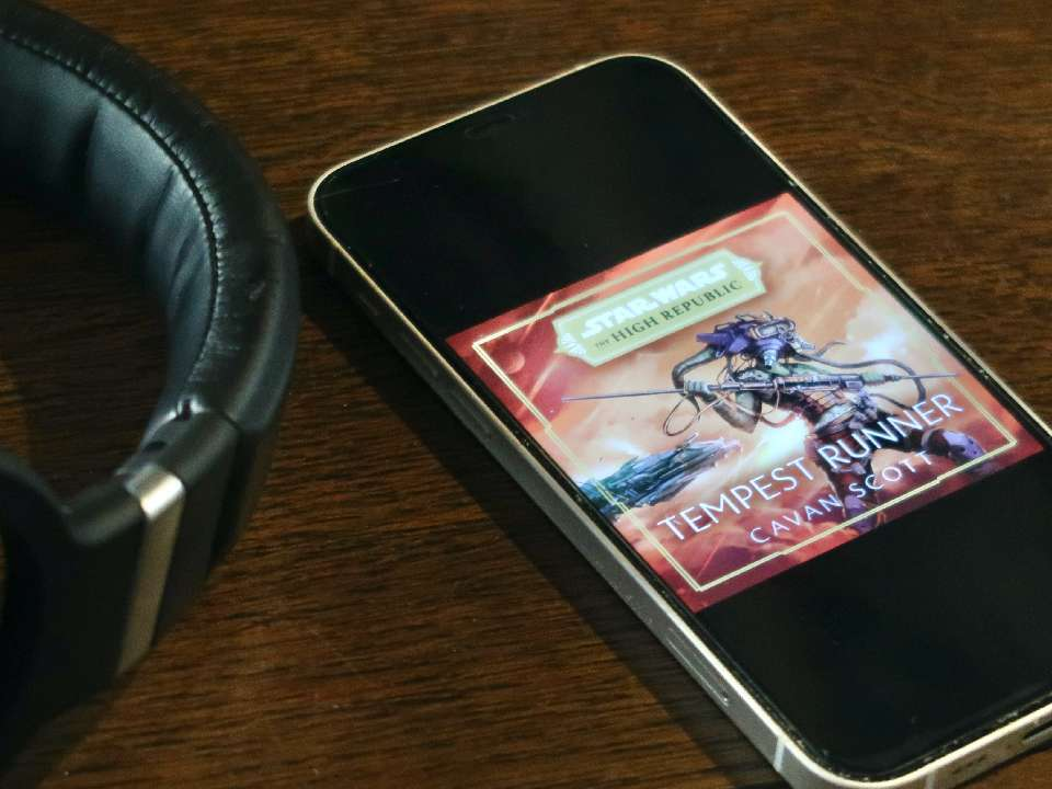 Tempest Runner on iPhone with headphones