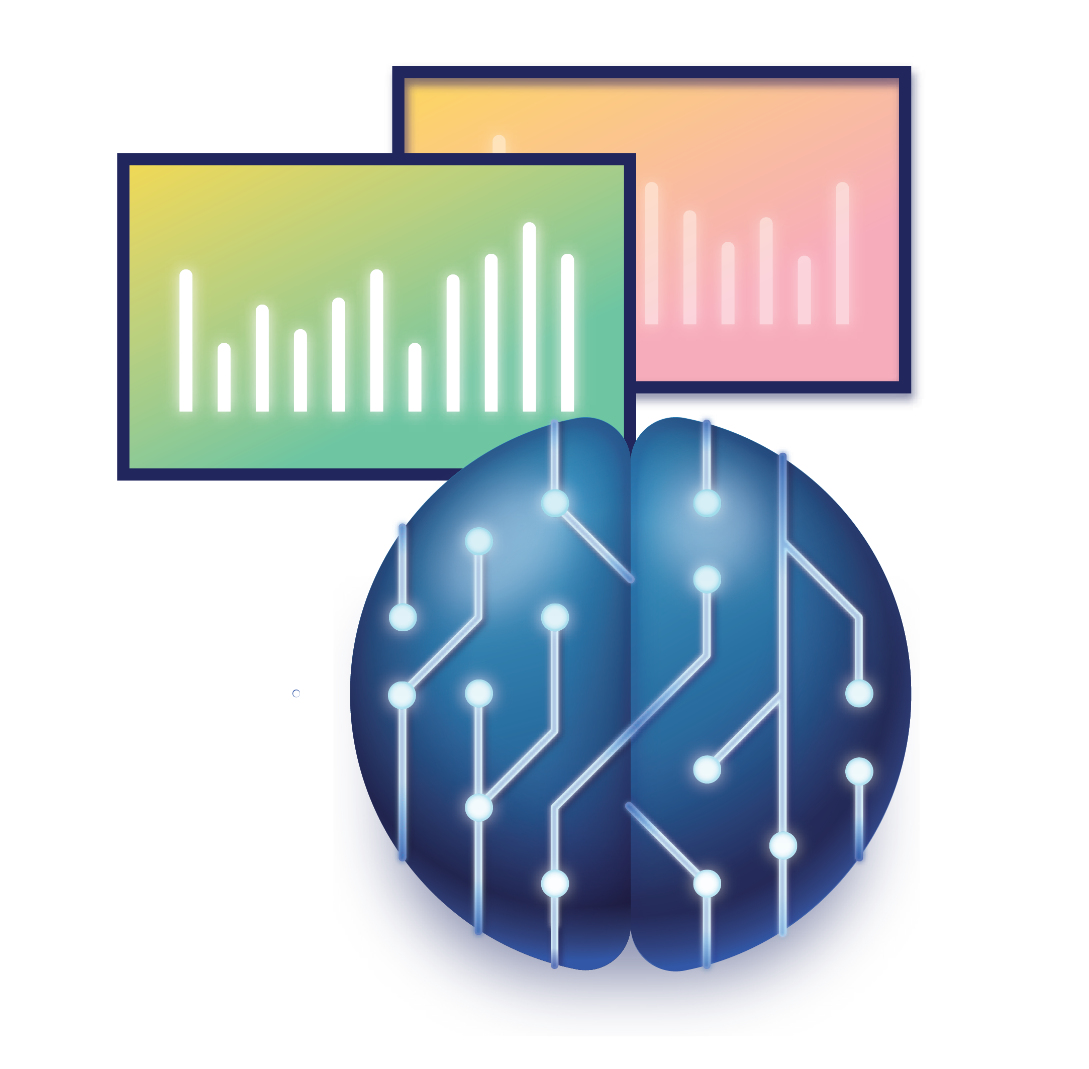 brain and dashboard icon