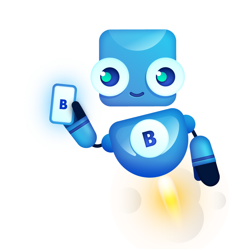 bigabid mascot robot rocket