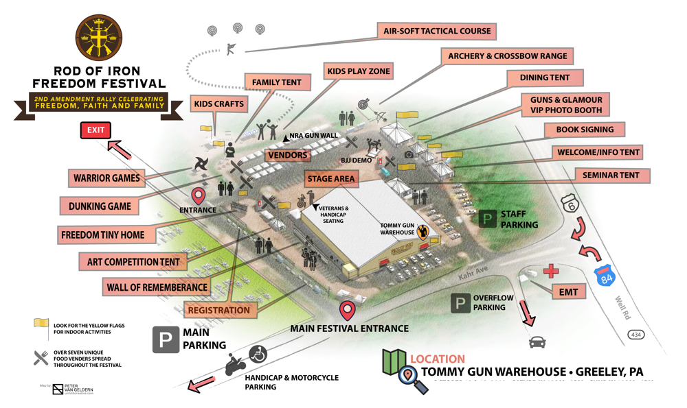 festival map with location labels