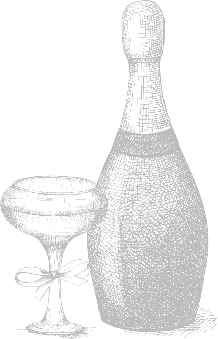 Champaign bottle icon.