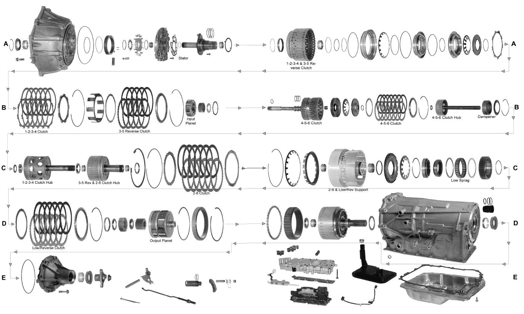 6L80 Exploded View