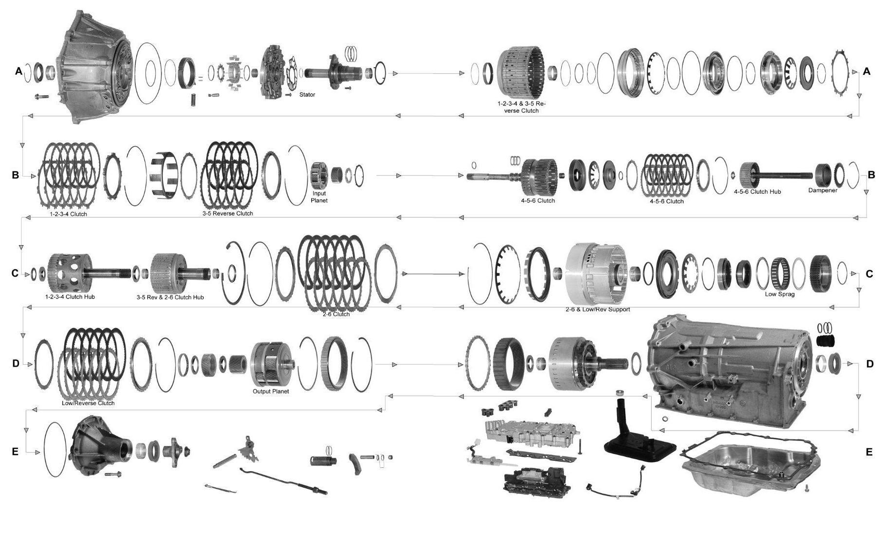 6L90 Exploded View