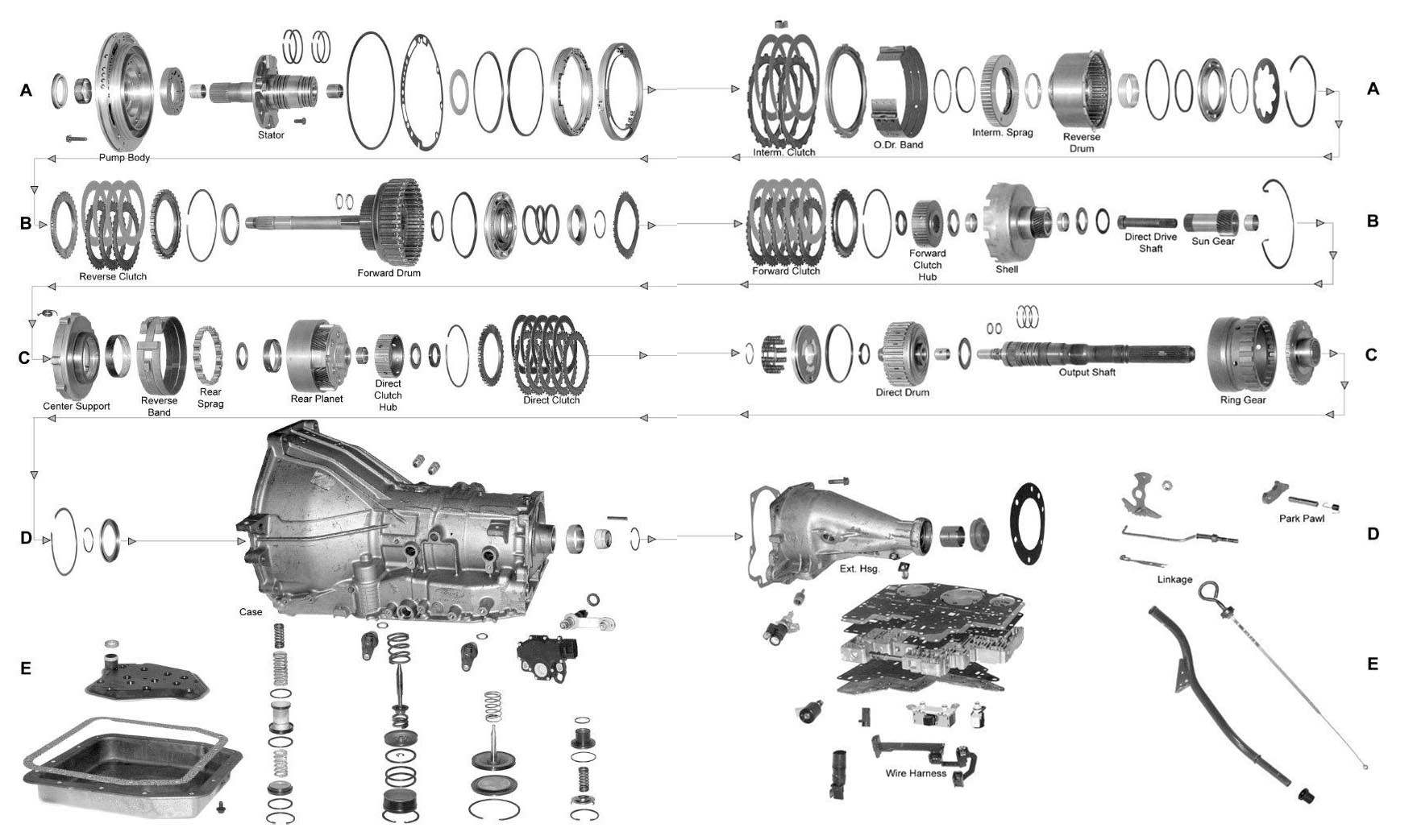 4R70W Exploded View