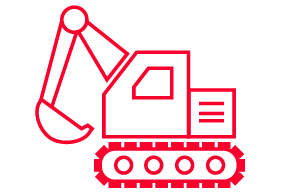 Heavy Duty & Off-Highway Parts Backhoe Icon