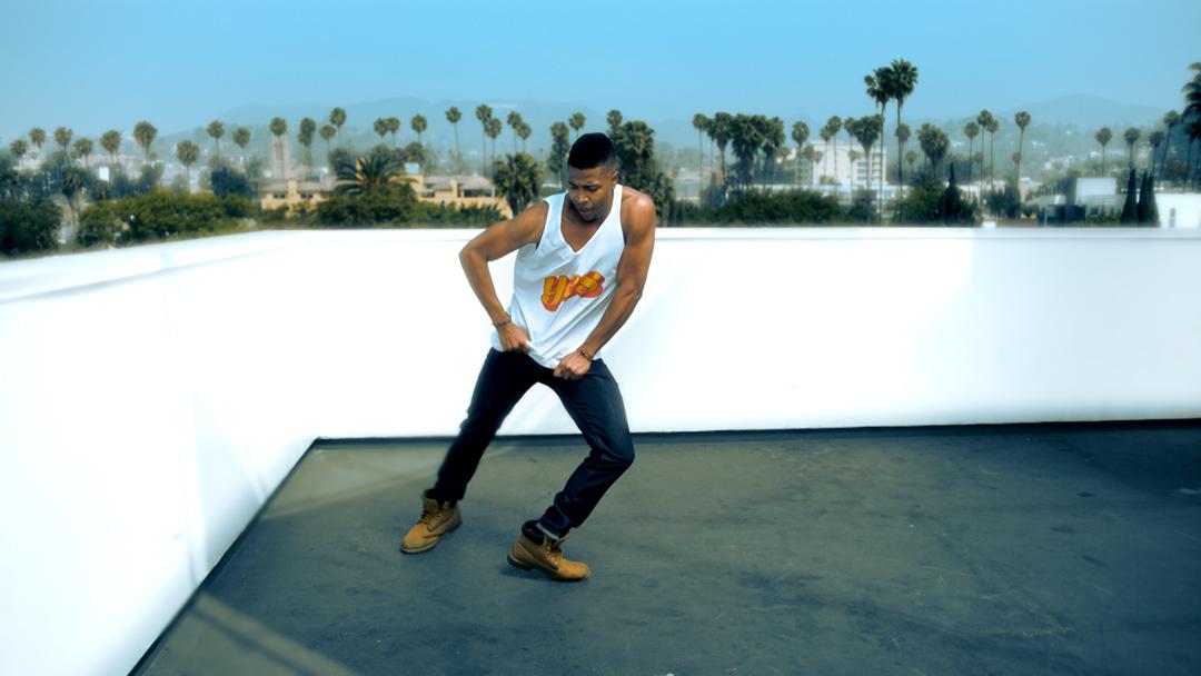 Tv-commercials-red bubble-asher entertainment-bike-bicycle-jump-break-dancing-dancer
