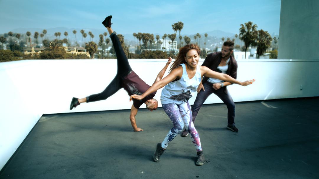 Tv-commercials-red bubble-asher entertainment-bike-bicycle-jump-break-dancing-dancers-bmx-tricks-group-team