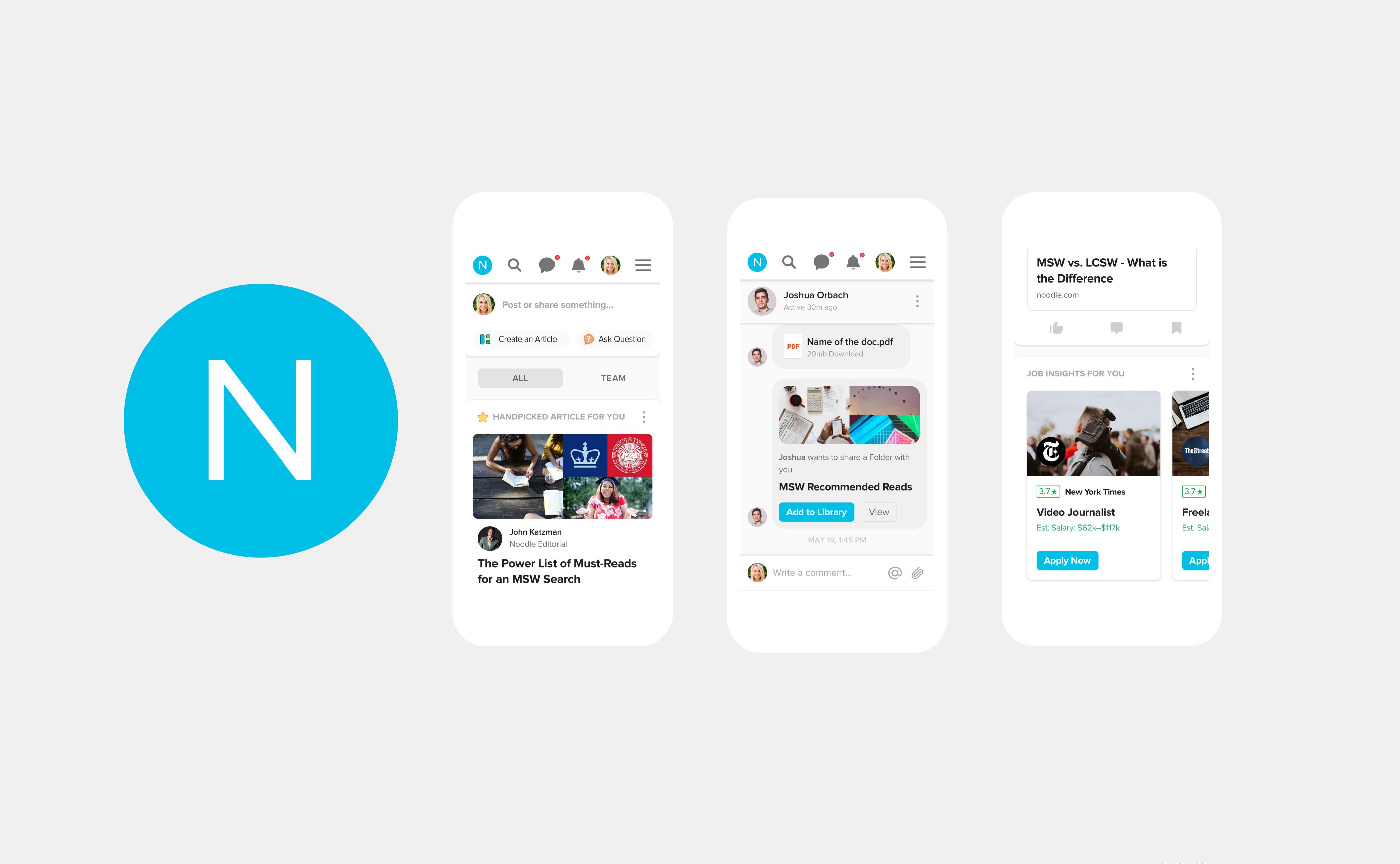 Noodle Education responsive mobile web design by RocketAir