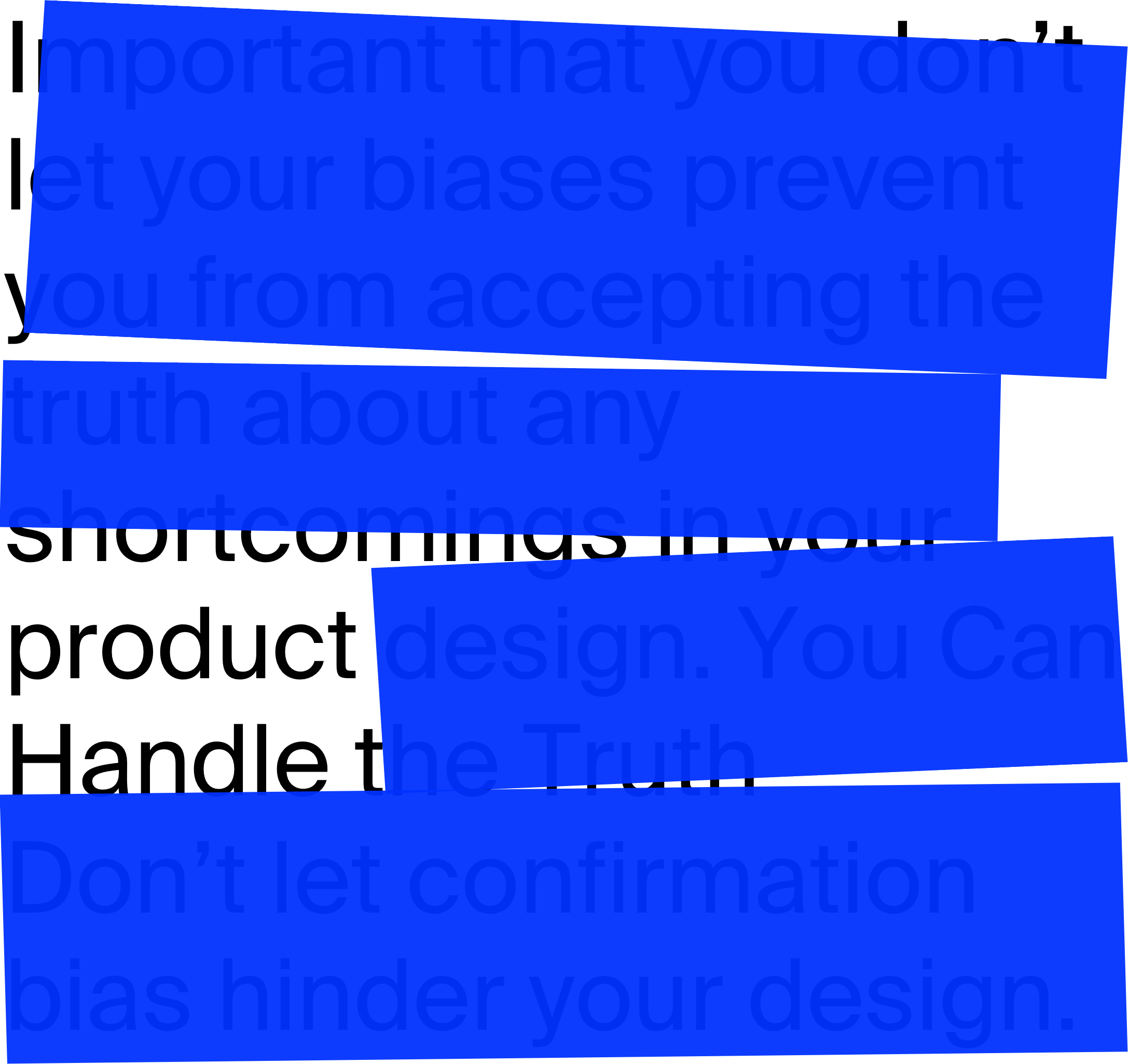 overcoming design bias header
