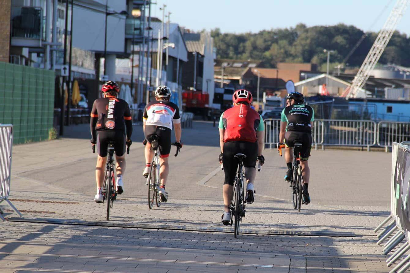 Riders setting off
