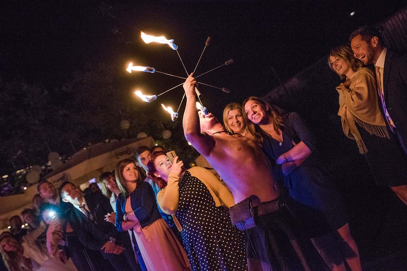 Feuershow Hochzeit Vorarlberg