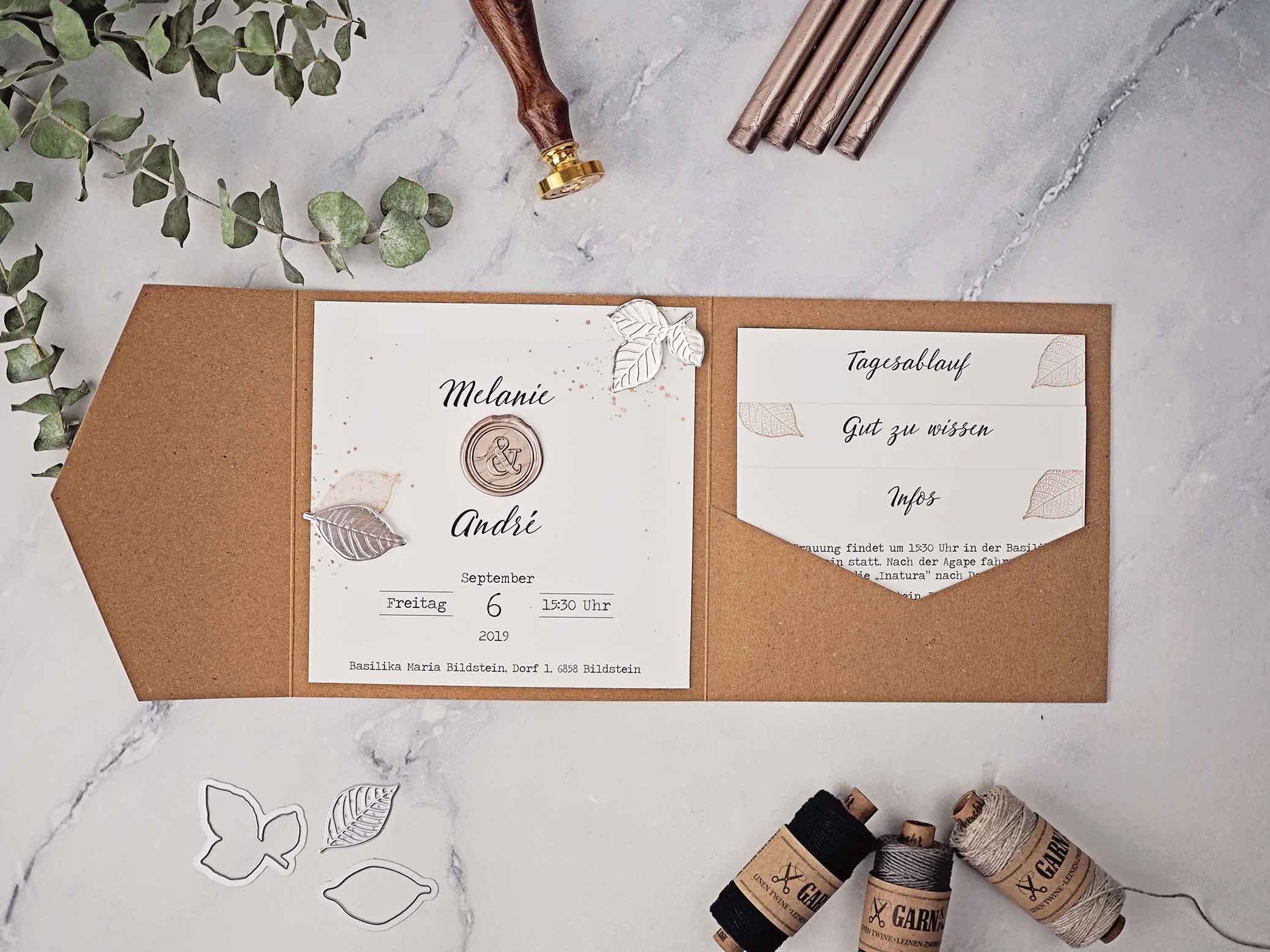 Hochzeitskarten von Bastel Ritter