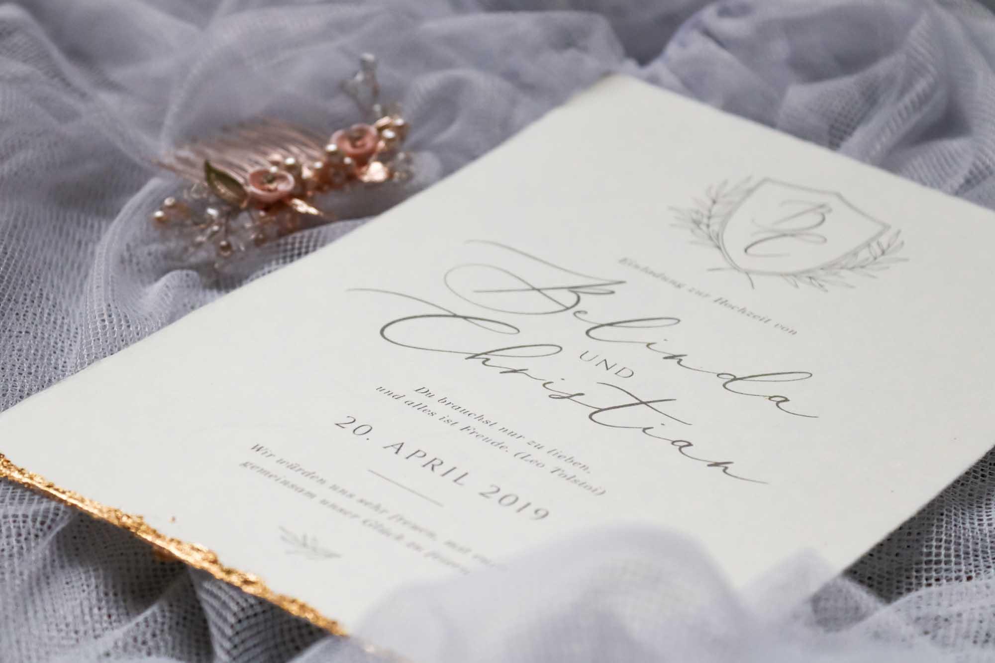 Hochzeitskarten von Michelle Kreil Design