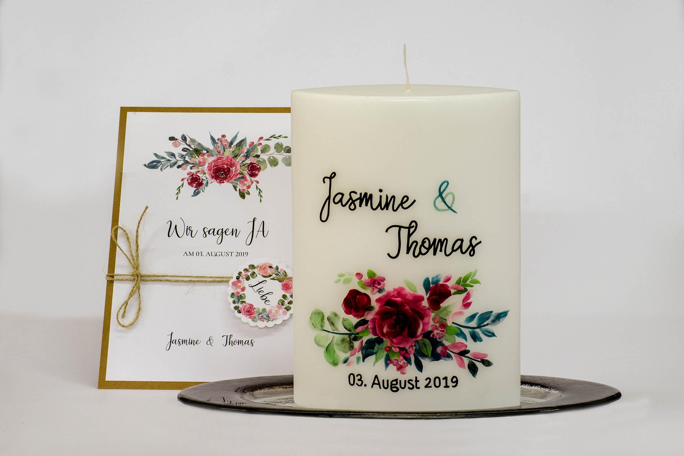 Hochzeitskerzen von Kerzenstudio Burtscher