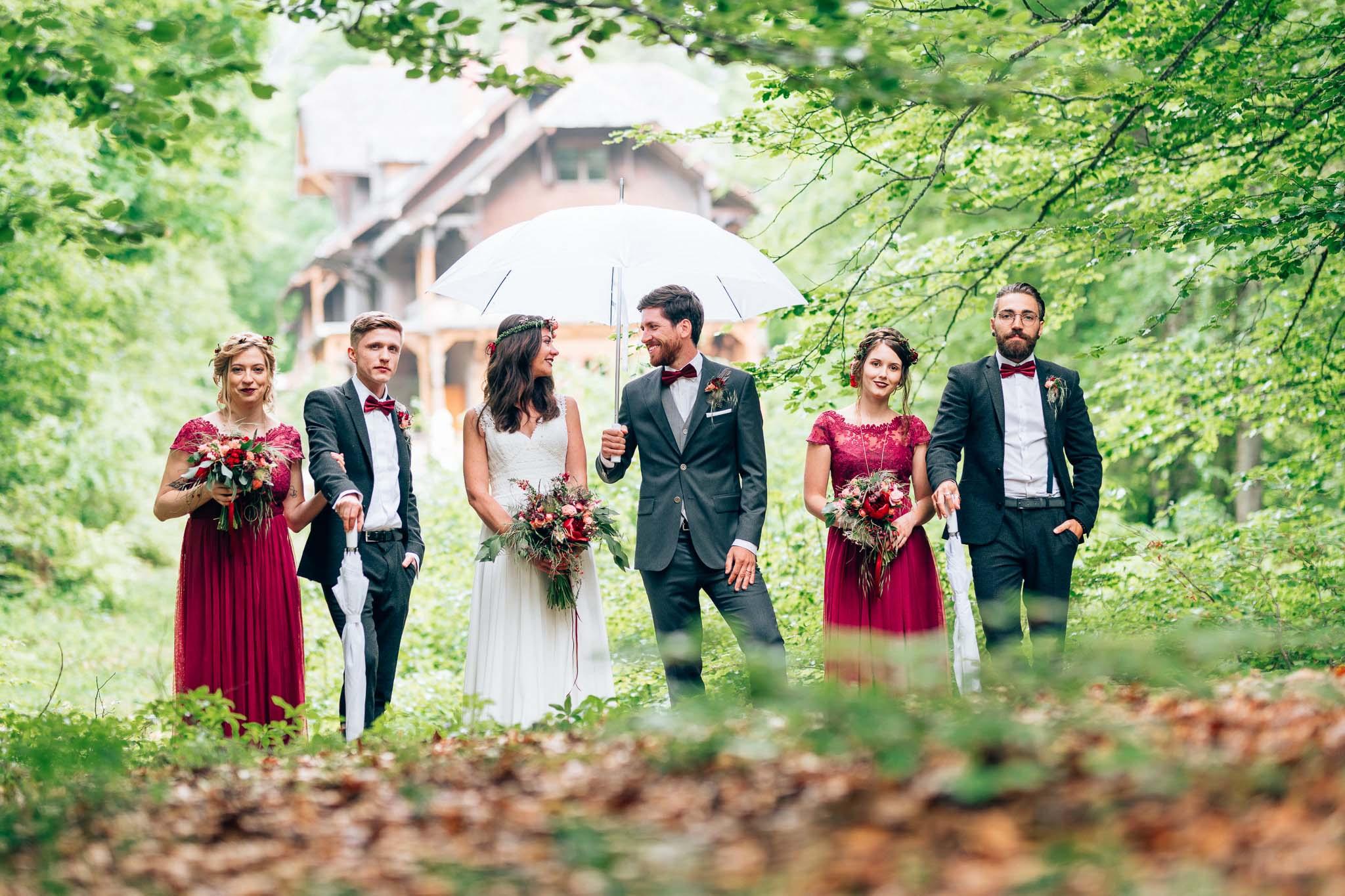 The Hunt is over: Waldhochzeit bei der Villa Maund