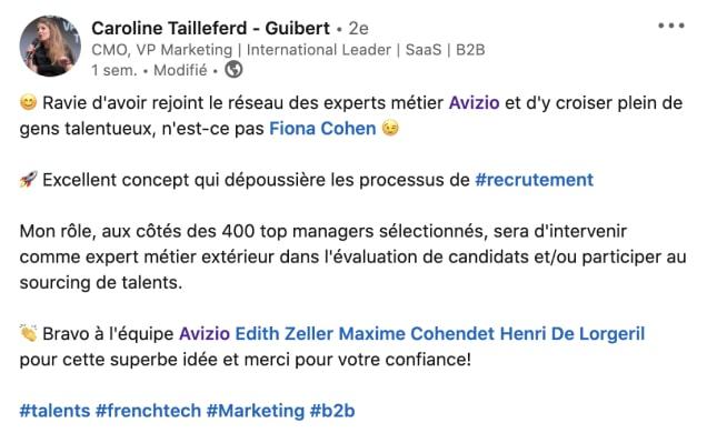 Caroline Tailleferd-Guibert fait partie du Réseau Avizio !