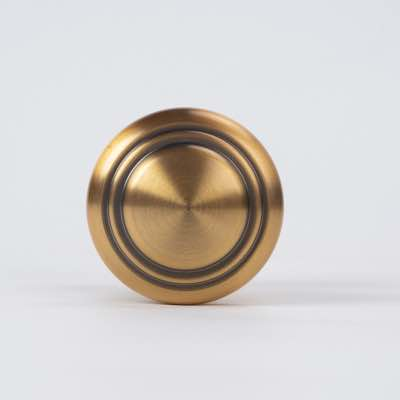 Aluminum alloy electroplated copper round single hole door handle