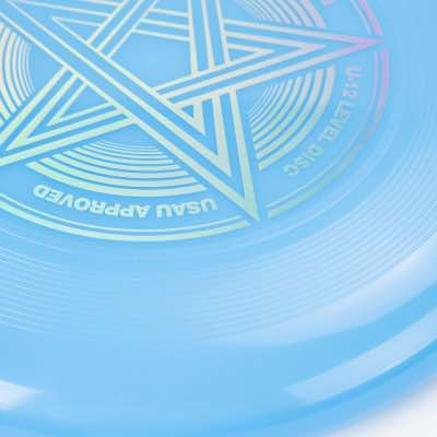 Plastic injection molded custom flying discs made with imported PE.