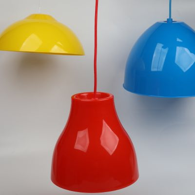 Plastic acrylic lampshade in plastic and silica gel
