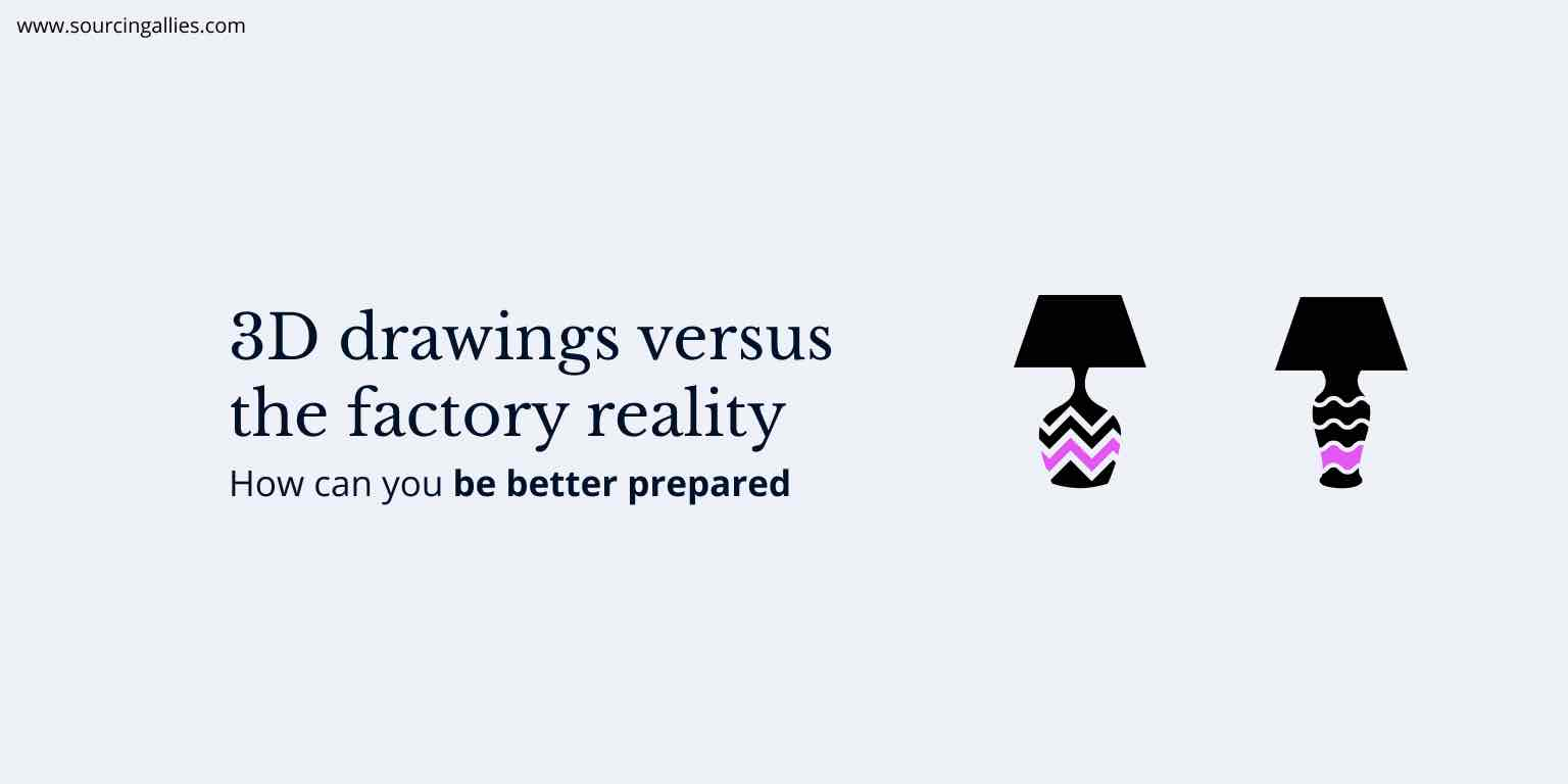 3D drawings versus the factory reality while manufacturing in China