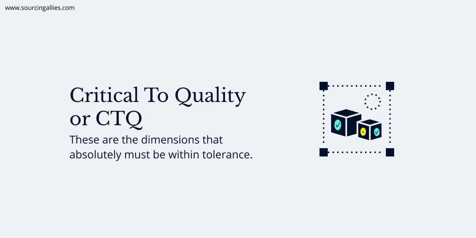 Critical to quality or CTQ while manufacturing