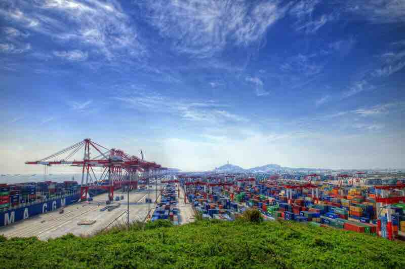 China sourcing agent - Containers a a port