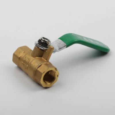 Brass valve, brass valve lever with a green handle