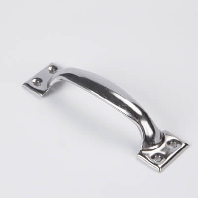 Stainless steel, cast door handle