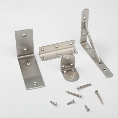 Metal brackets, L shaped metal brackets, Corner metal brackets, shelf brackets
