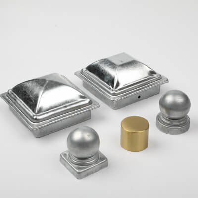 Handrail caps, metal handrail caps, metal handrail ends