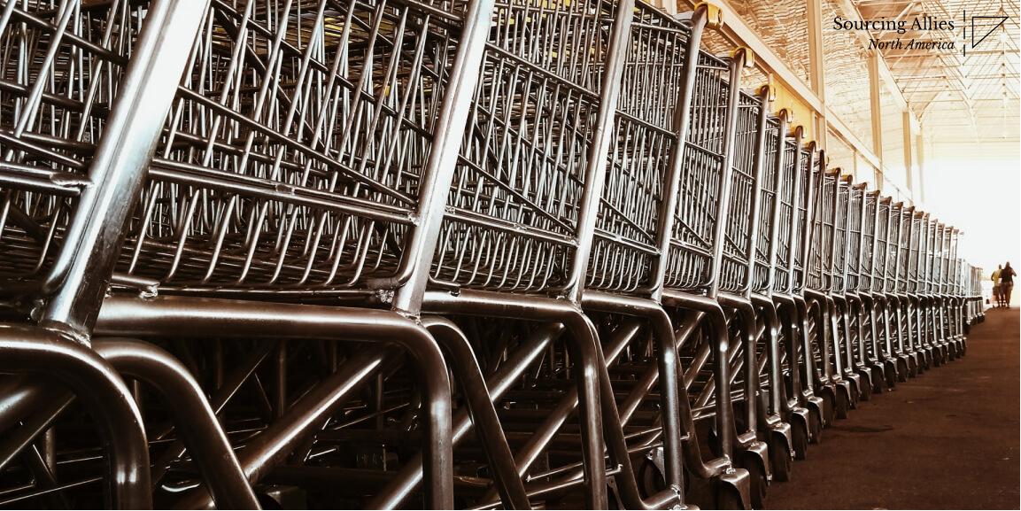 Shopping carts at a China manucaturer