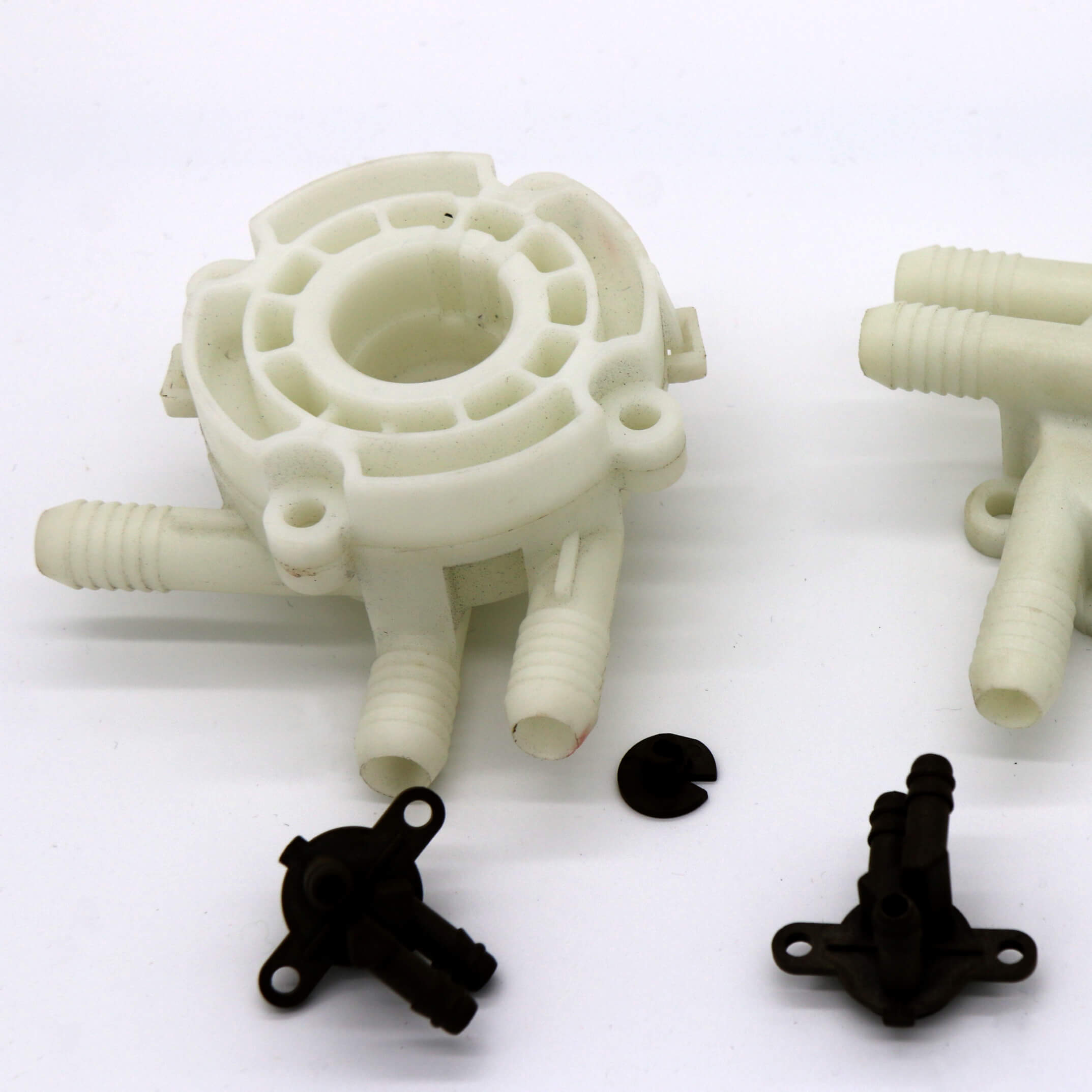Plastic pump body, PP, ABS, Nylon, UL rated, environmentally friendly, imported raw material