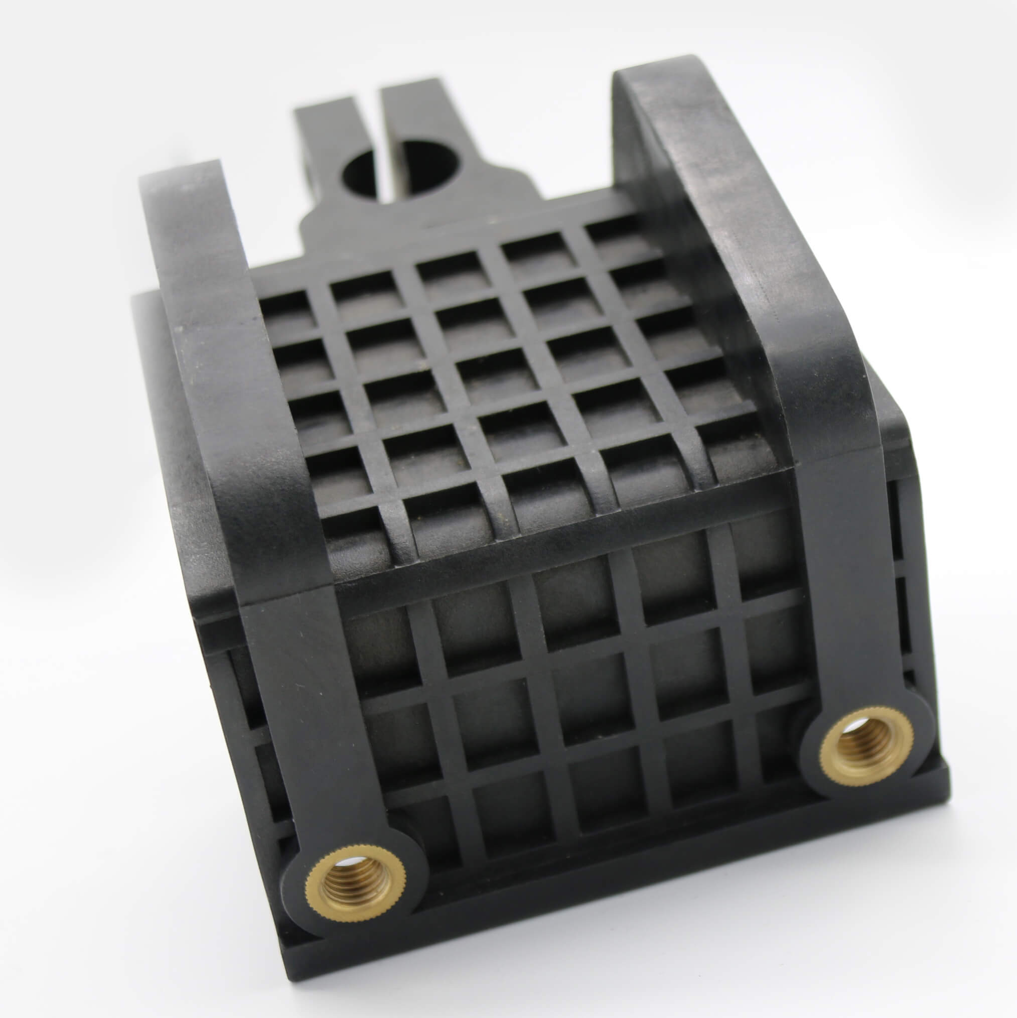 Plastic parts with threaded inserts