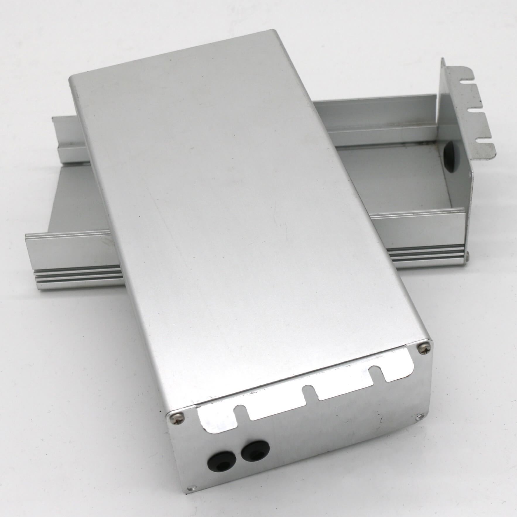 Aluminum enclosure anodized extruded