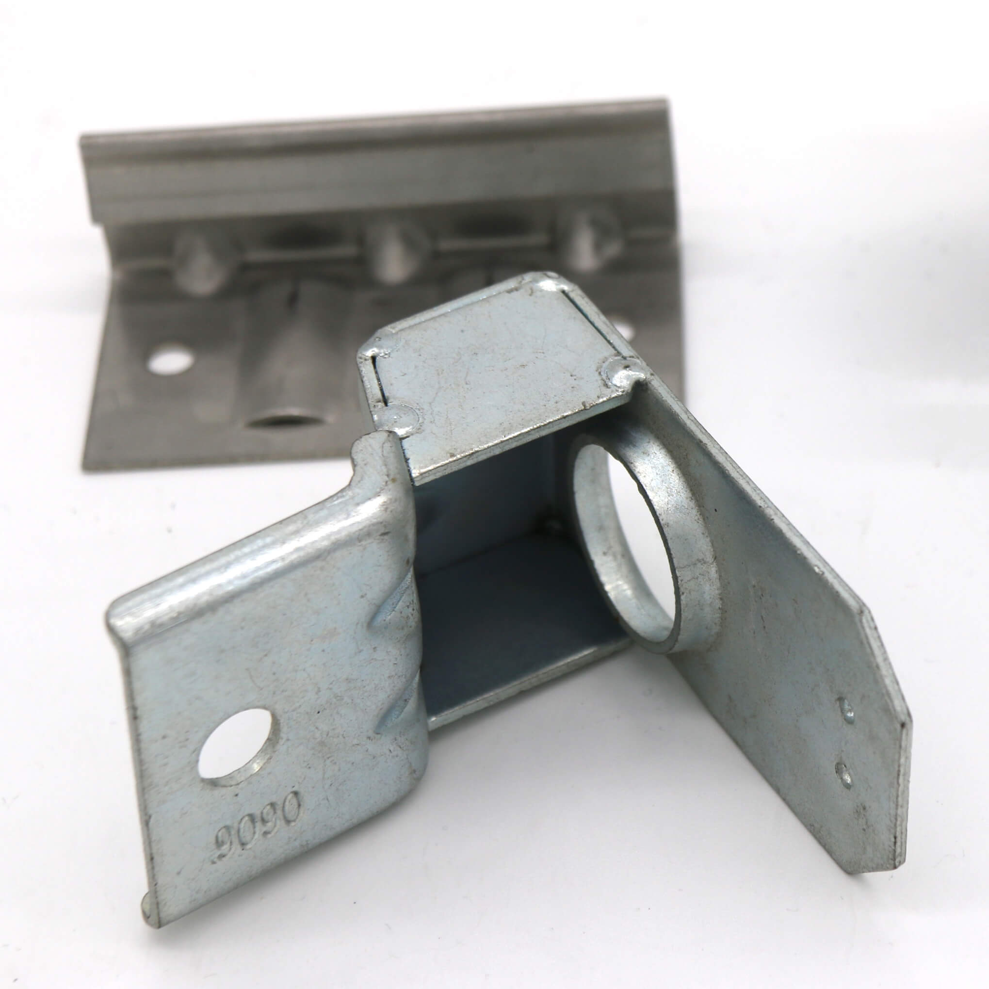 Metal bracket complex stamped, aluminum, aluminium, steel, brass