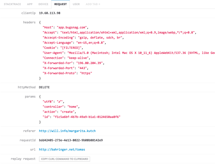 Detect errors in your Lumen applications | Bugsnag Platform
