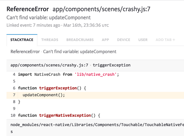 React Native Debugging & Error Reporting | Bugsnag Platform