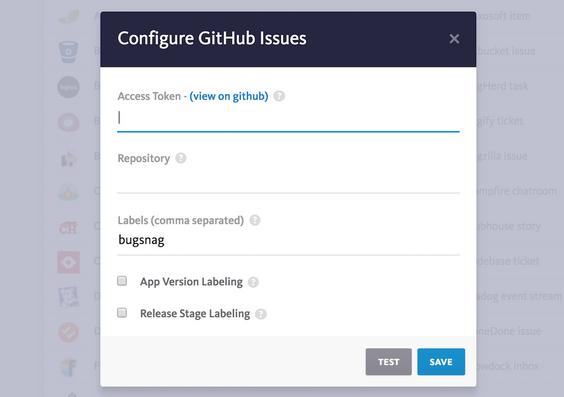 GitHub   Bugsnag Integration