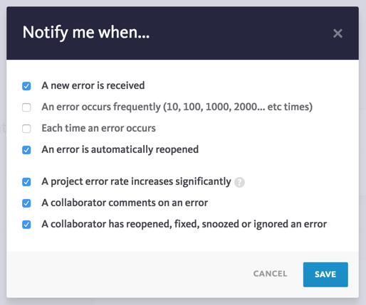 User workflow notifications