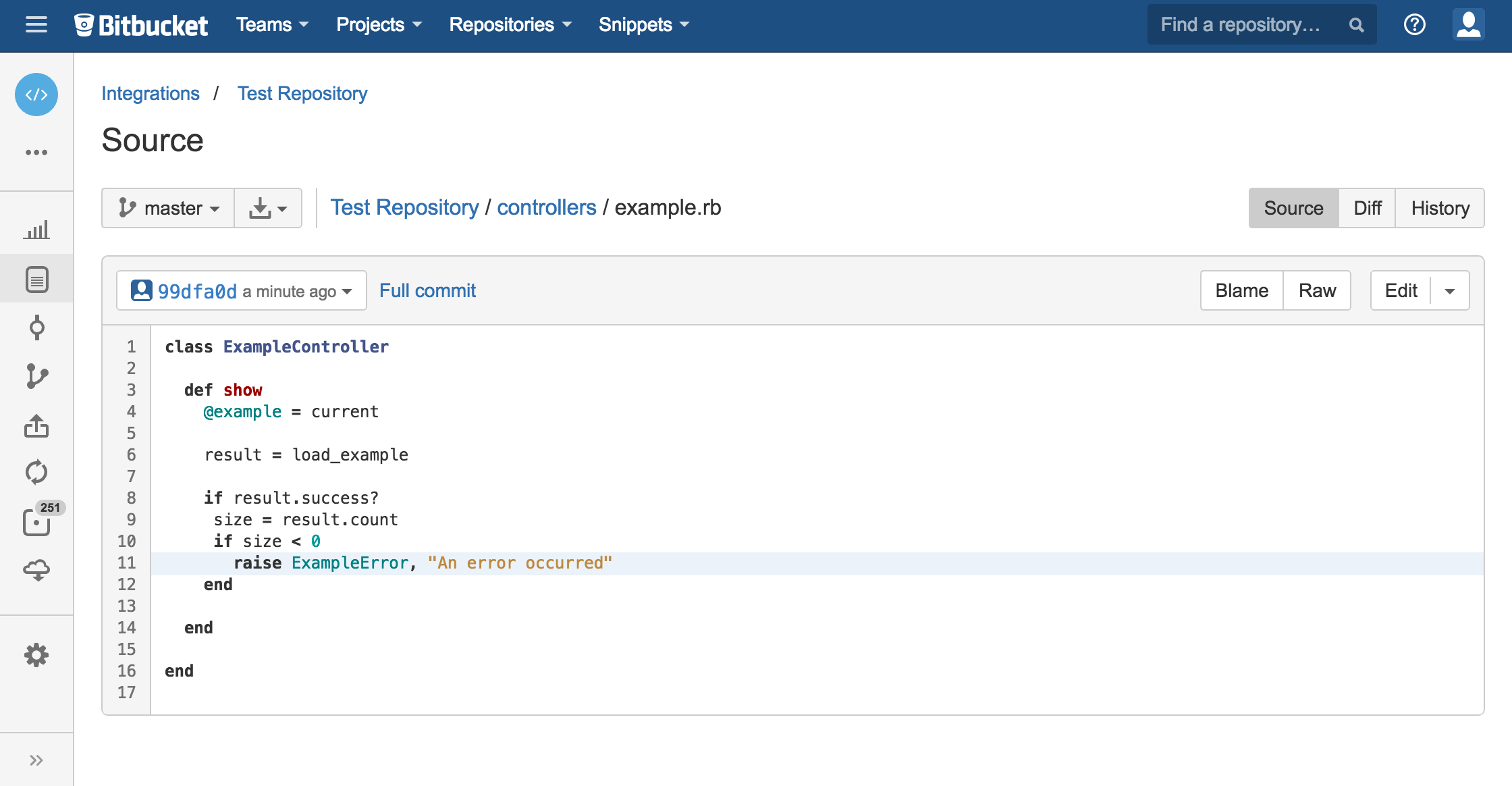 Bitbucket source code