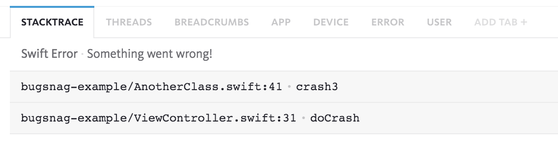 Swift demangling