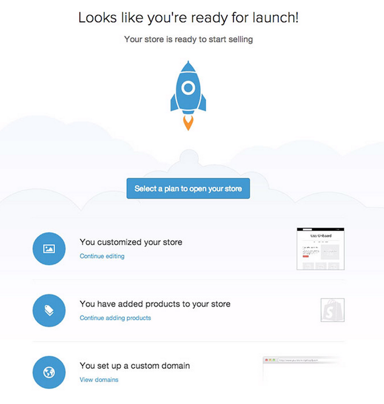 Shopify ready to launch