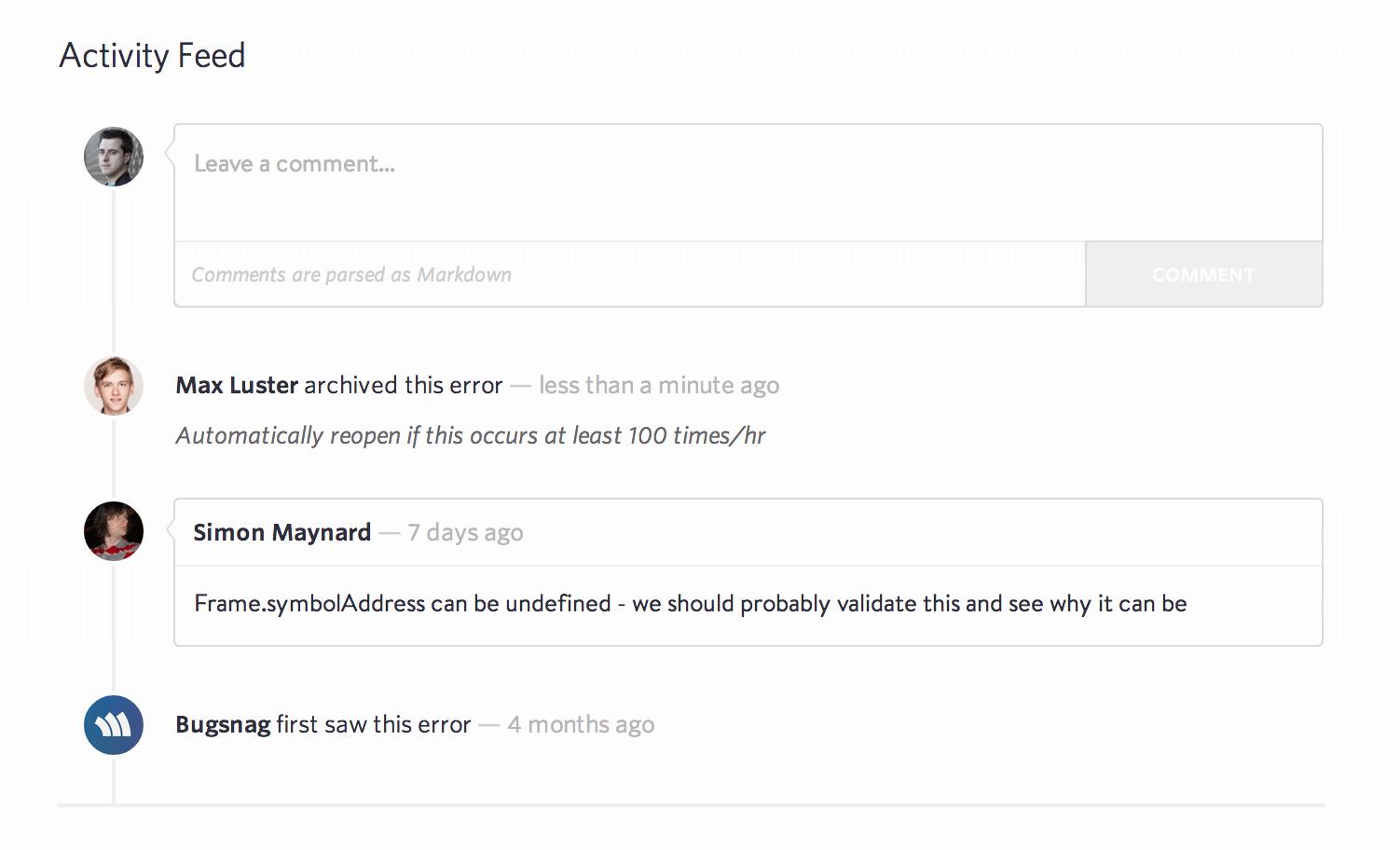 new error filters
