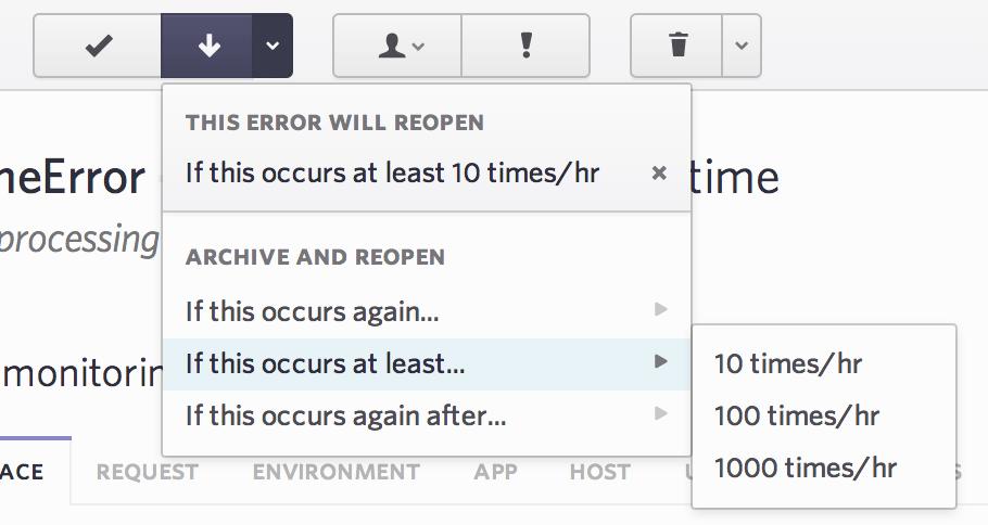 archive errors