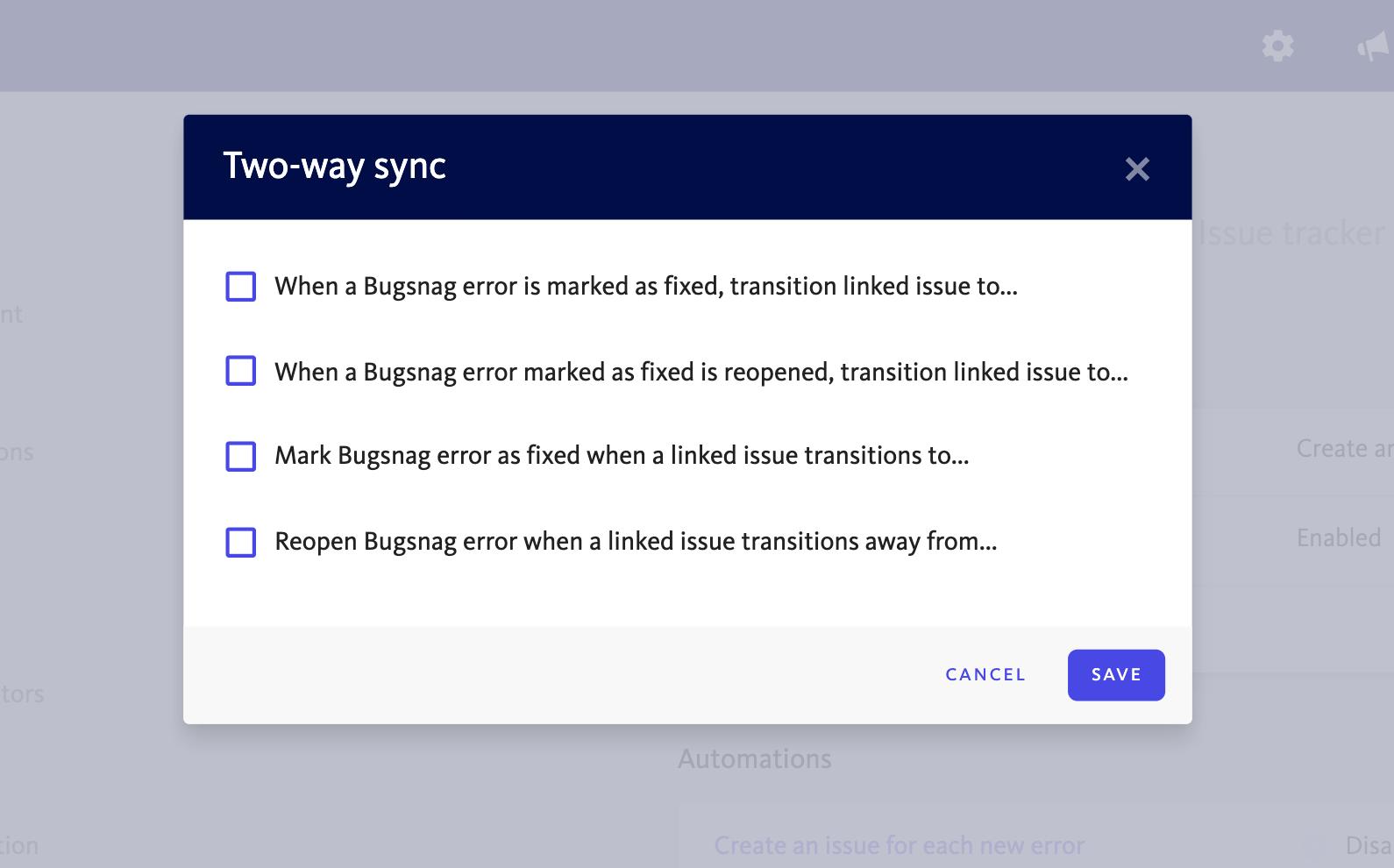 Issue tracker sync