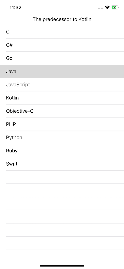 iOS app built with Kotlin Multiplatform